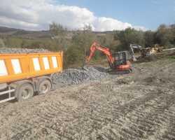 Spostamento strada e consolidamento versante strada Palagione -  Impresa Edile Gabellieri